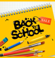 back to school sale design with colorful pencils vector image vector image