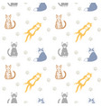 beautiful seamless pattern with cats vector image