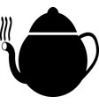 black tea icon symbol vector image vector image