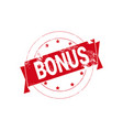bouns sign rubber sticker design shopping badge vector image vector image