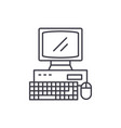 business laptop line icon concept business laptop vector image
