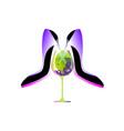 business party logo biz women absinthe liqueur vector image