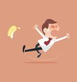 Businessman slipping vector image vector image