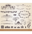 Calligraphic design elements vector image vector image