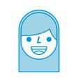 cartoon face girl smile avatar person icon vector image vector image