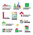 collection of logos construction and repair vector image vector image