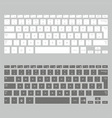 Computer keyboards vector image vector image