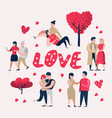 couple in love cartoon characters people vector image
