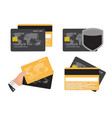 credit card icon flat concept collection set vector image vector image