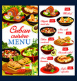 cuban cuisine restaurant dishes menu cover vector image vector image