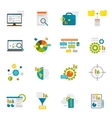 Data Analytics Flat Icons vector image vector image