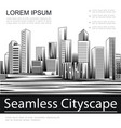 engraving seamless cityscape template vector image