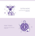 extra work and new tasks concept template web vector image vector image