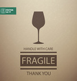 Fragile Sign Handle with Care vector image vector image