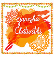 ganesh chaturthi festival vector image vector image