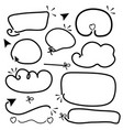 hand drawn line frame border set collection vector image