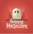 happy halloween - celebration card with vector image vector image