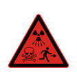 high level radiation vector image vector image