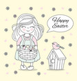 holiday cots easter holiday girl vector image vector image