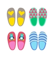 Home slippers icons vector image