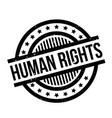 human rights rubber stamp vector image vector image