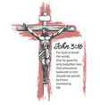 jesus christ the son of god crucified on a vector image vector image