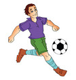 man playing soccer vector image