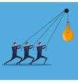 men business collaboration bulb idea creative vector image