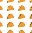 Mexican taco seamless pattern on white background vector image