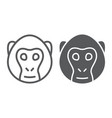 monkey line and glyph icon animal and zoo vector image vector image