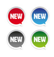 new product sticker speech bubble vector image