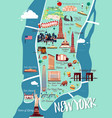 new york manhattan map vector image vector image