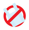 no plastic bag icon say no to plastic bag vector image vector image