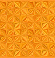 orange geometric stripe tile mosaic pattern vector image vector image