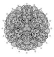 ornamental mandala inspired ethnic art vector image