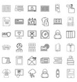paper icons set outline style vector image vector image