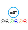 pay rounded icon vector image