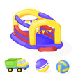 playground park cartoon fun play kid vector image