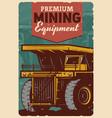 premium mining equipment coal mine machinery vector image
