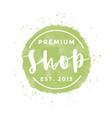 premium shop logo clothes vector image