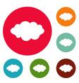 rain icons circle set vector image vector image