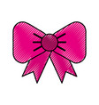 scribble fuchsia bow cartoon vector image vector image