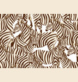 seamless pattern with of zebras vector image