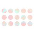 set coral and teal hologram circle background vector image vector image