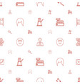 set icons pattern seamless white background vector image vector image