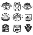 set of hiking badges isolated on white background vector image
