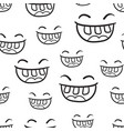 smile with tongue seamless pattern background vector image
