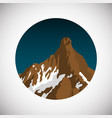snowy mountain flat on gradient vector image