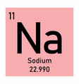 sodium chemical element vector image vector image
