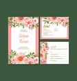 summer flower concept design for wedding card vector image vector image